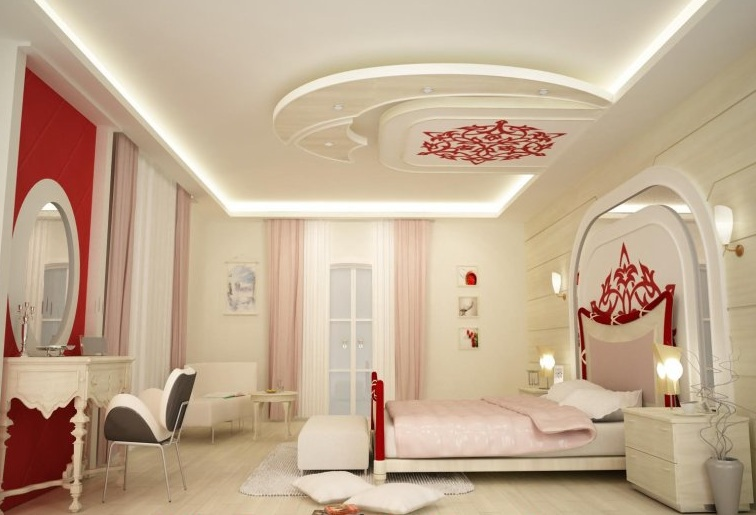 Platre plafond chambre a coucher for Decoration platre salon