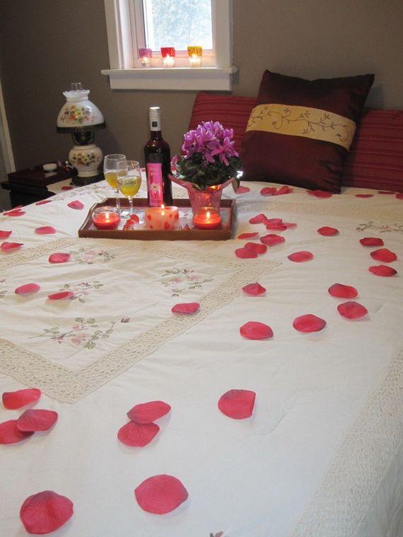D coration chambre pour soiree romantique exemples d 39 am nagements for Idee deco chambre romantique