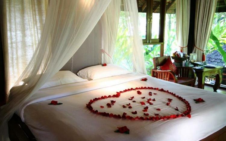 D coration chambre pour soiree romantique exemples d 39 am nagements - Decoration romantique chambre ...