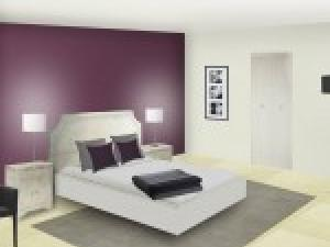 D coration chambre prune exemples d 39 am nagements for Chambre prune et blanc