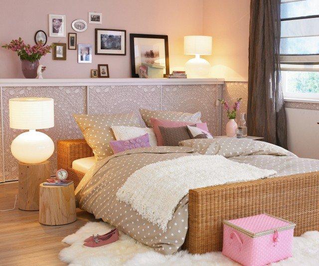 Décoration chambre romantique rose - Exemples d\'aménagements