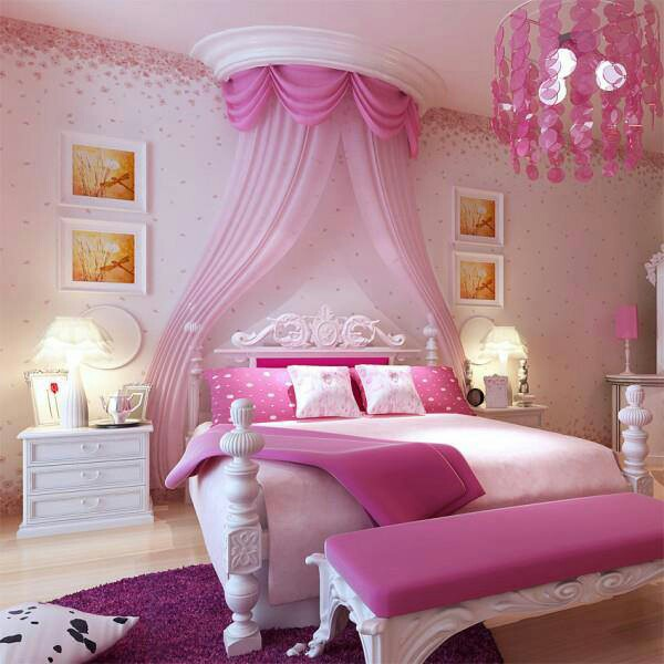 Aménagement Décoration Chambre Romantique Rose; Idée Décoration Chambre  Romantique Rose; Agencement Décoration Chambre Romantique Rose ...