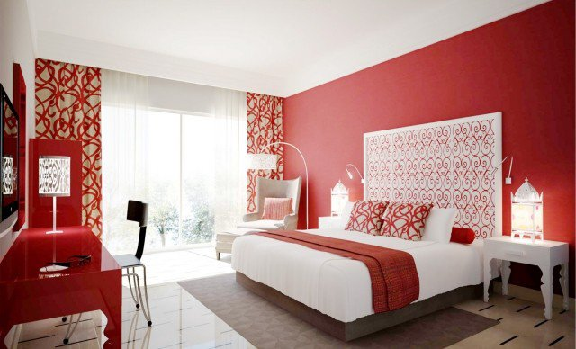 Chambre Taupe Et Rouge