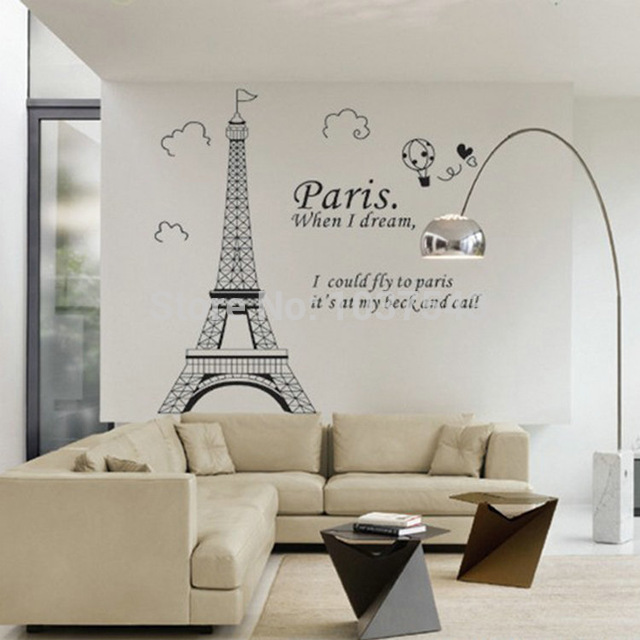 D coration chambre tour eiffel exemples d 39 am nagements for Stickers tour eiffel chambre