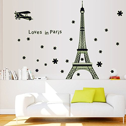 Deco chambre tour eiffel pr l vement d for Stickers tour eiffel chambre