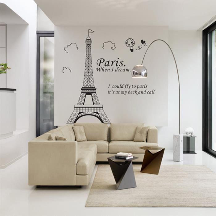 photo décoration chambre tour eiffel
