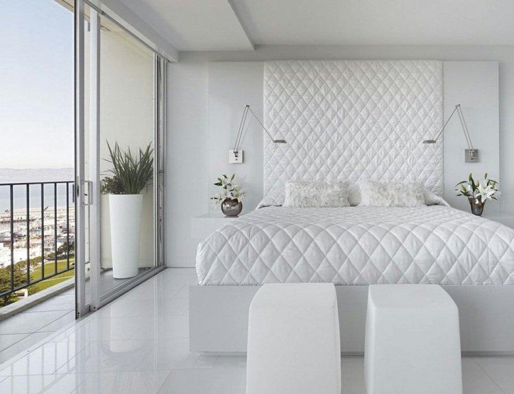 Décoration chambre toute blanche - Exemples d\'aménagements