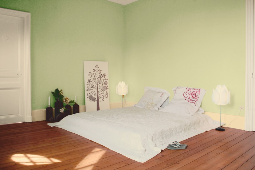 Awesome chambre vert amande et beige contemporary design trends