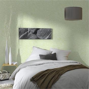 agencement décoration chambre vert amande