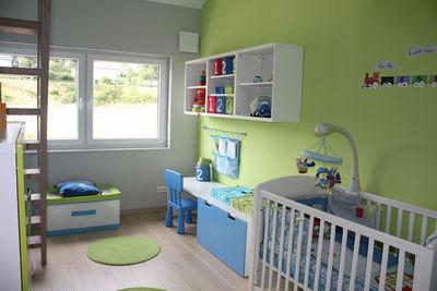 D coration chambre vert et bleu exemples d 39 am nagements - Couleur peinture chambre bebe ...