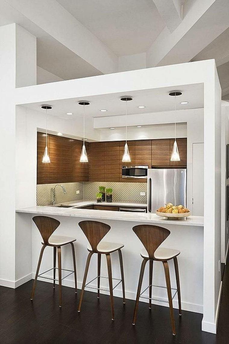 Décoration cuisine avec bar   exemples d'aménagements