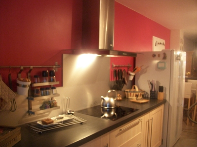 D coration cuisine couleur framboise exemples d 39 am nagements - Mur couleur framboise ...