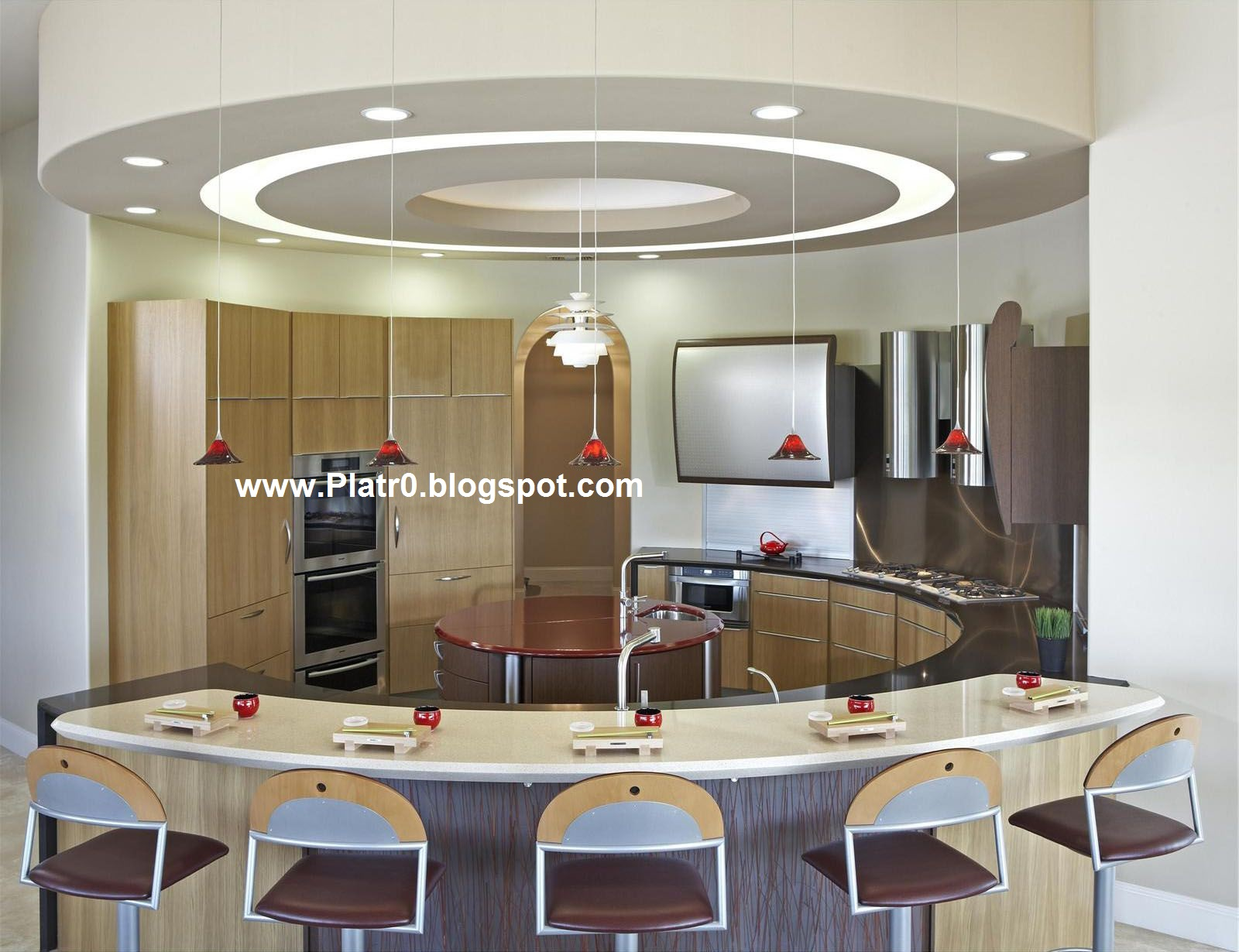 Idees de plafond cuisine moderne for Decoration cuisine moderne