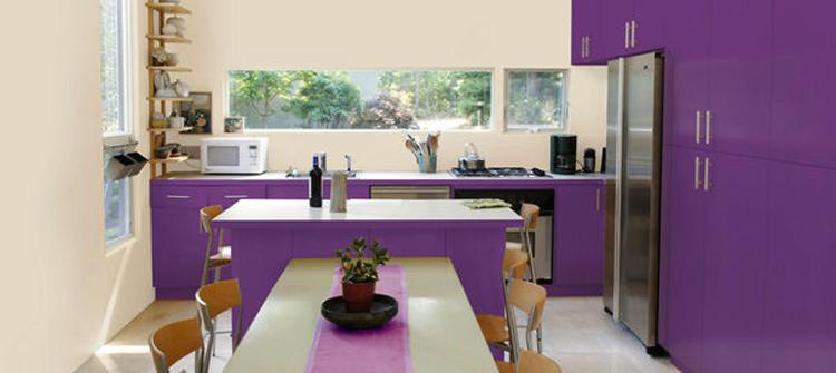 d coration cuisine peinture couleur exemples d 39 am nagements. Black Bedroom Furniture Sets. Home Design Ideas