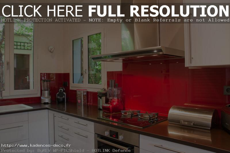 Dcoration Cuisine Rouge Et Beige  Exemples DAmnagements