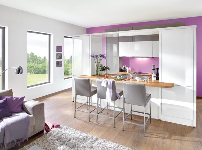 D coration cuisine salon exemples d 39 am nagements - Petite cuisine ouverte sur sejour ...