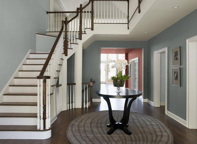 D coration entree et escalier exemples d 39 am nagements - Decoration d une entree avec escalier ...
