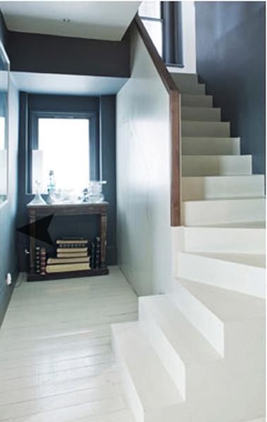 D coration entree et escalier exemples d 39 am nagements - Couleur mur escalier ...