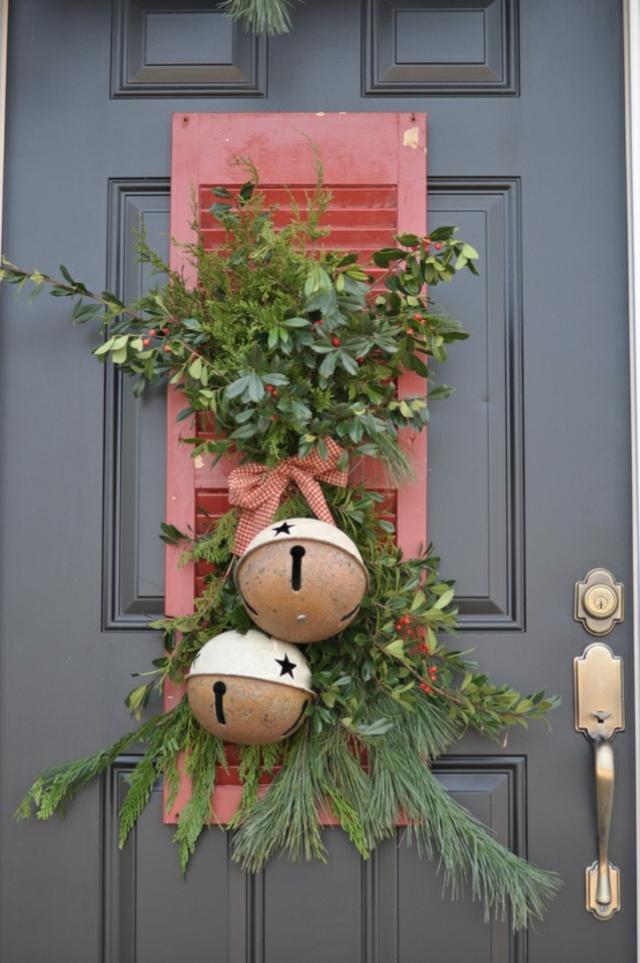 D coration entree maison noel exemples d 39 am nagements - Decoration porte d entree ...