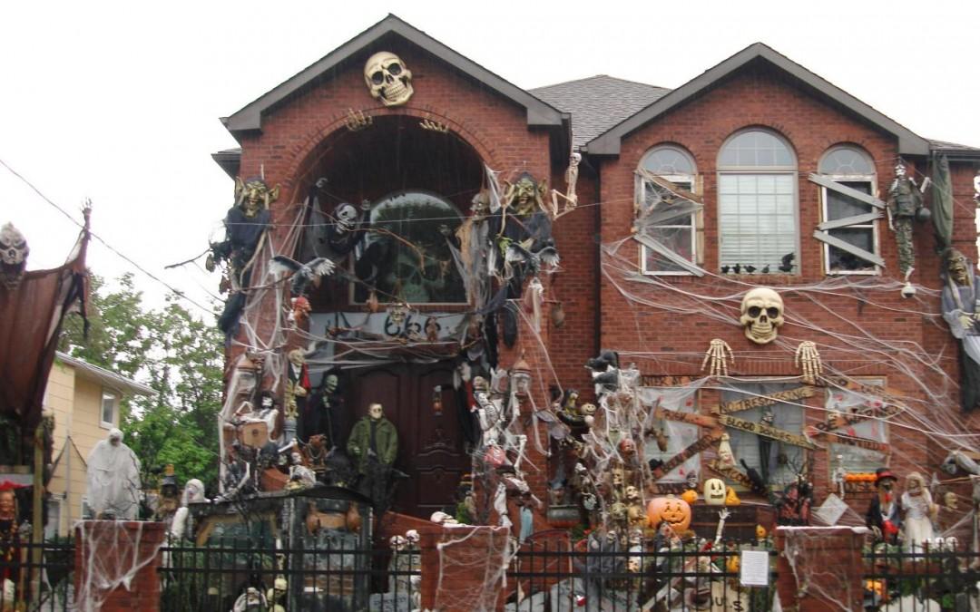 décoration halloween maison usa