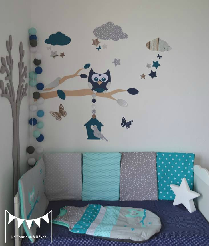 D coration hibou chambre bebe exemples d 39 am nagements for Exemple deco chambre bebe