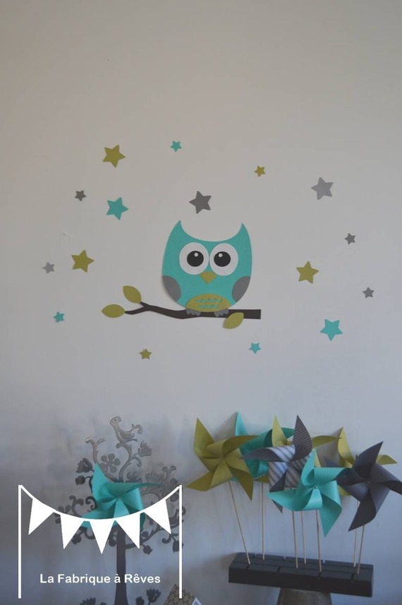 D coration hibou chambre bebe exemples d 39 am nagements for Decoration chambre bebe hibou