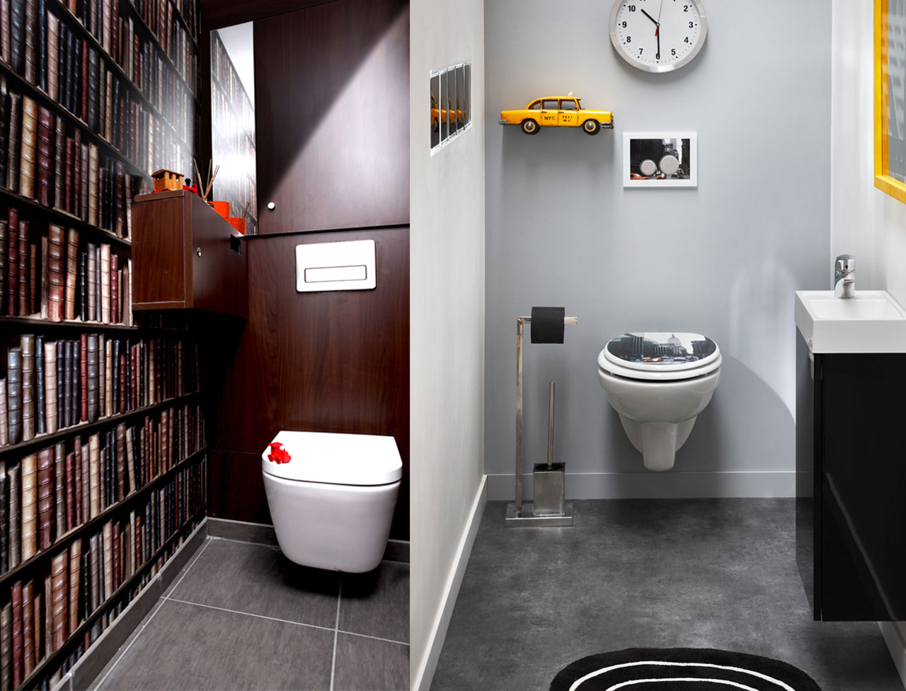D coration interieur toilettes exemples d 39 am nagements for Idee design interieur