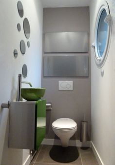 D coration interieur toilettes exemples d 39 am nagements for Quelle couleur pour un wc