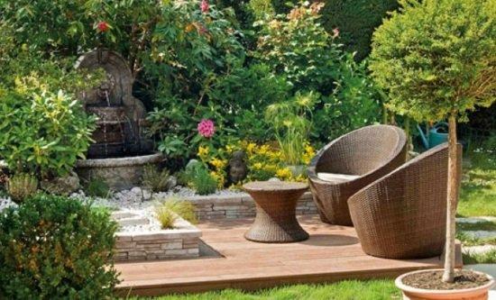 D coration jardin avec fontaine exemples d 39 am nagements for Deco exterieur jardin fontaine