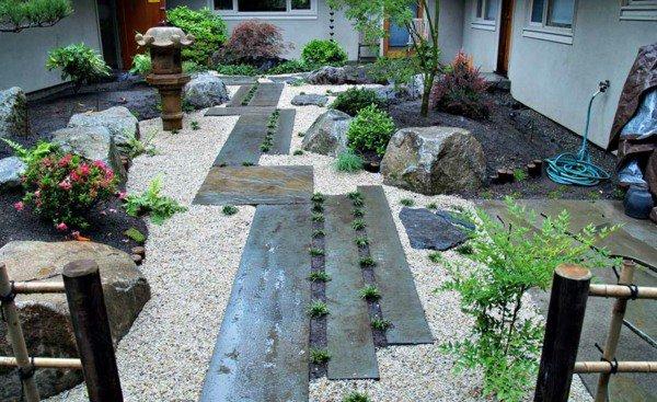 exemple dcoration jardin avec galets - Decoration De Jardin Avec Des Galets