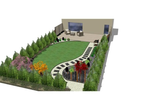 D coration jardin en longueur exemples d 39 am nagements for Idee amenagement jardin en longueur