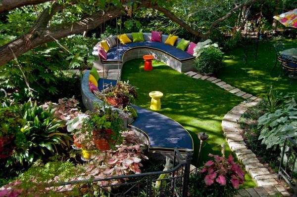 aménagement jardin en longueur