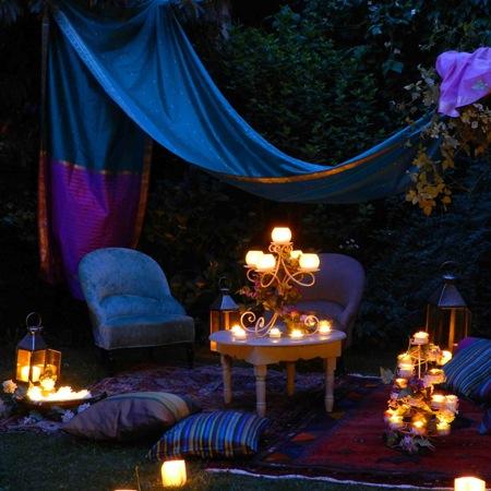 Décoration jardin nuit - Exemples d\'aménagements