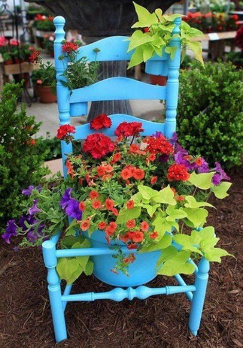 D coration jardin pots de fleurs exemples d 39 am nagements - Exemple de decoration de jardin ...