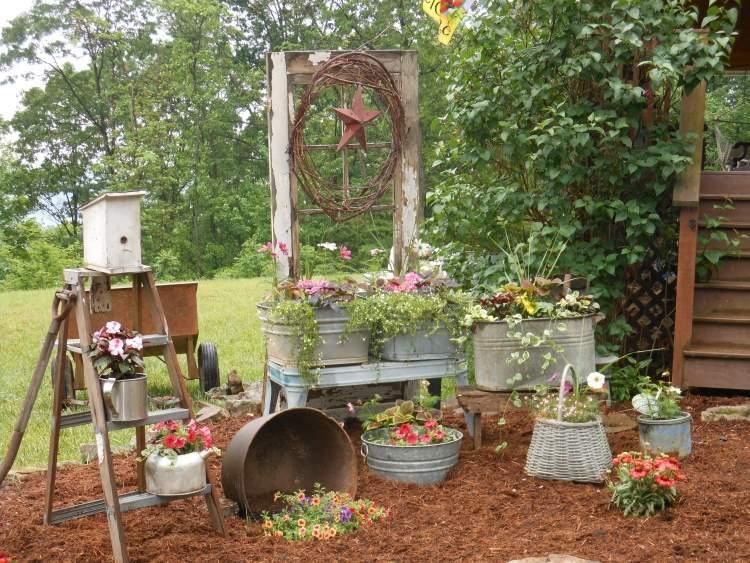 aménagement décoration jardin recup