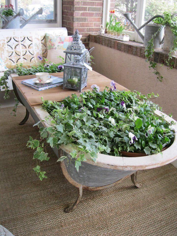 idée décoration jardin recup