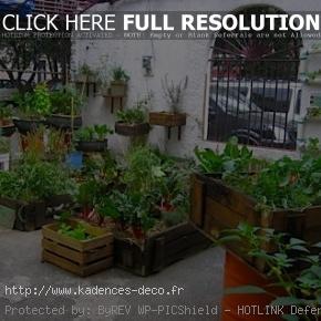 exemple décoration jardin recup