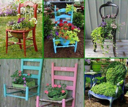 agencement décoration jardin recup