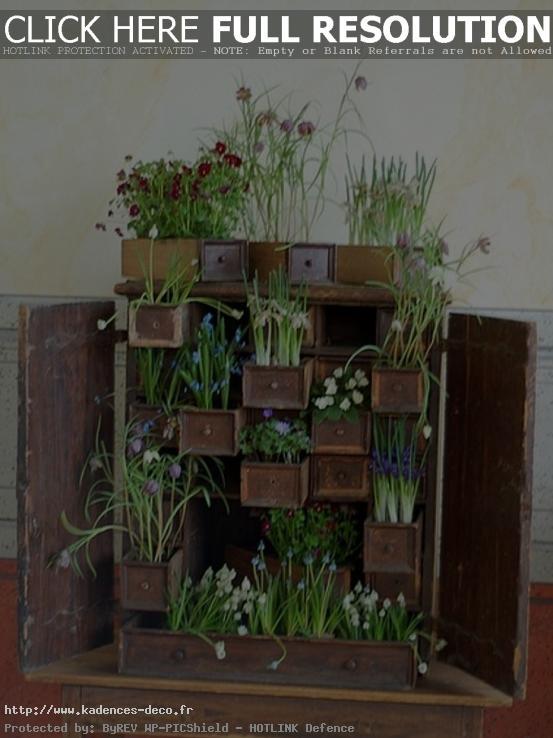 modèle décoration jardin recup