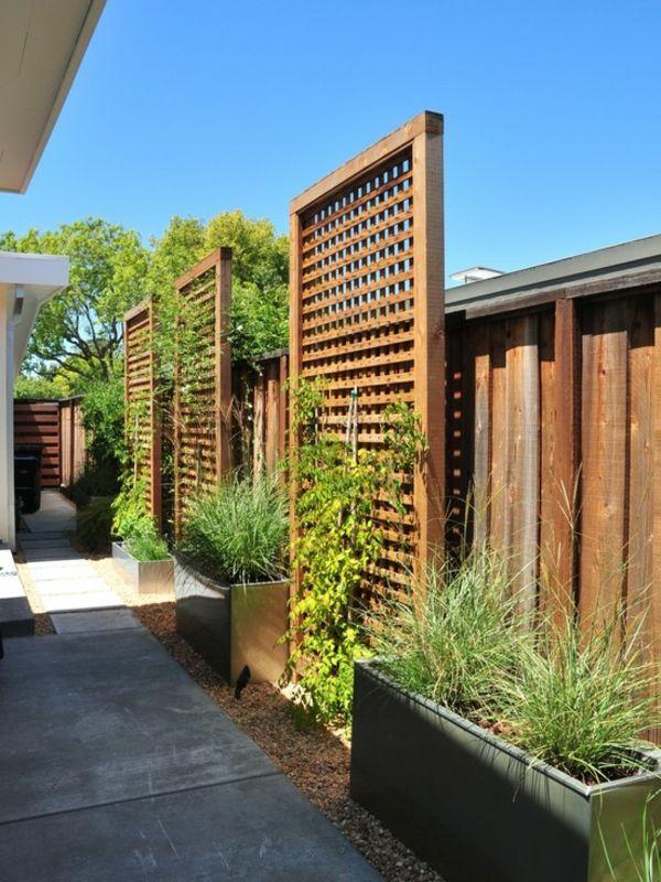D coration jardin treillis exemples d 39 am nagements - Treillis jardin bois ...