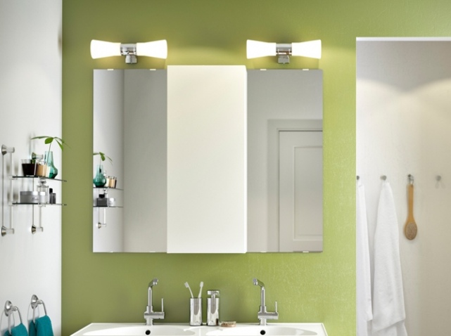 d coration luminaire salle de bain exemples d 39 am nagements. Black Bedroom Furniture Sets. Home Design Ideas