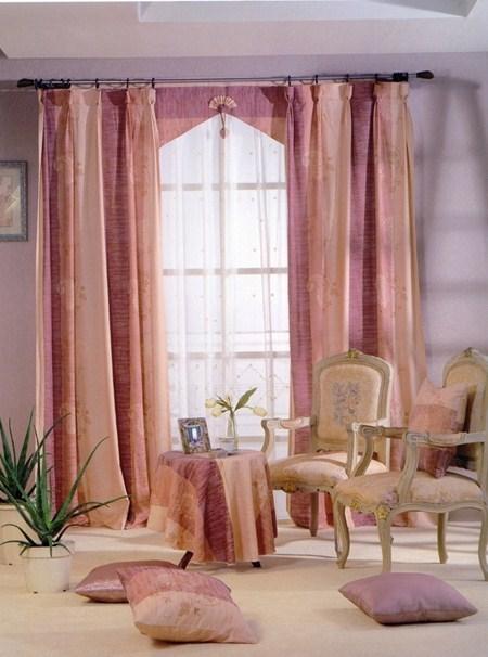d coration maison et rideaux exemples d 39 am nagements. Black Bedroom Furniture Sets. Home Design Ideas