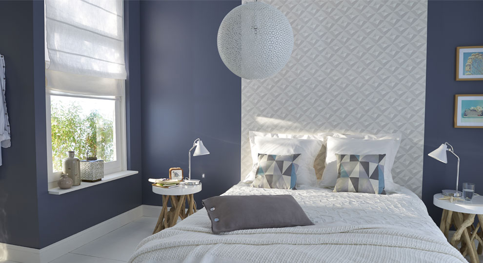 simple chambre adulte bleu ciel decoration maison peinture. Black Bedroom Furniture Sets. Home Design Ideas