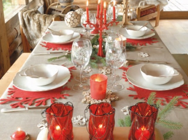 D coration maison table noel exemples d 39 am nagements - Decoration de table pour noel a faire soi meme ...