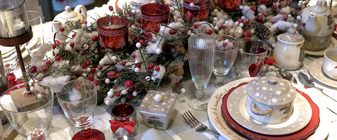 D coration maison table noel exemples d 39 am nagements for Deco maison de noel