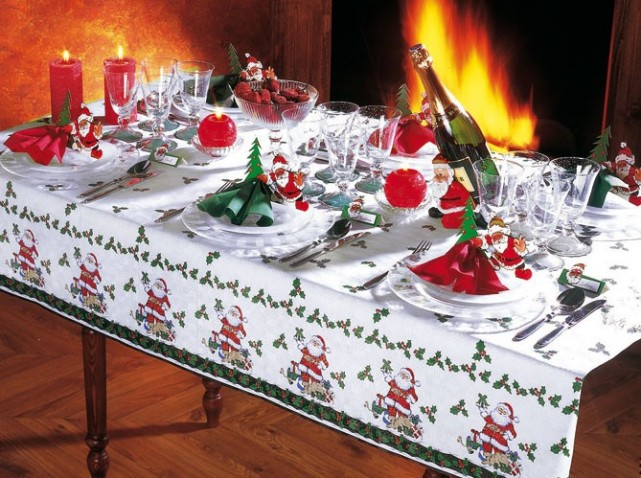D coration maison table noel exemples d 39 am nagements for Decoration de noel pour table