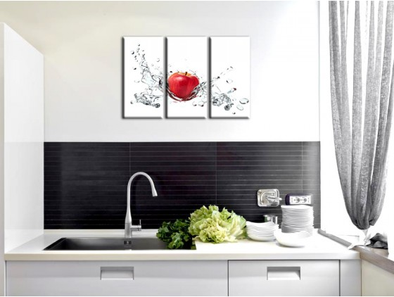 D coration murale cuisine rouge for Decoration murale salon moderne