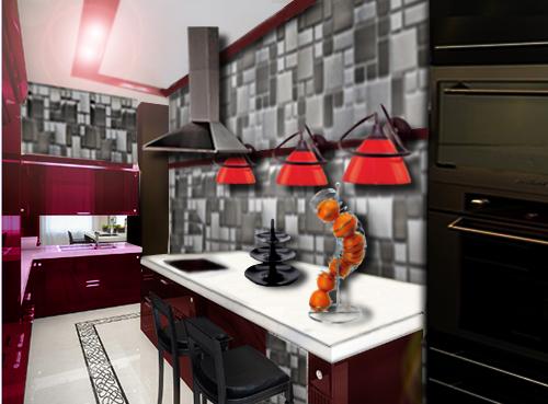 Decoration murale cuisine contemporaine exemples d for Deco cuisine contemporaine