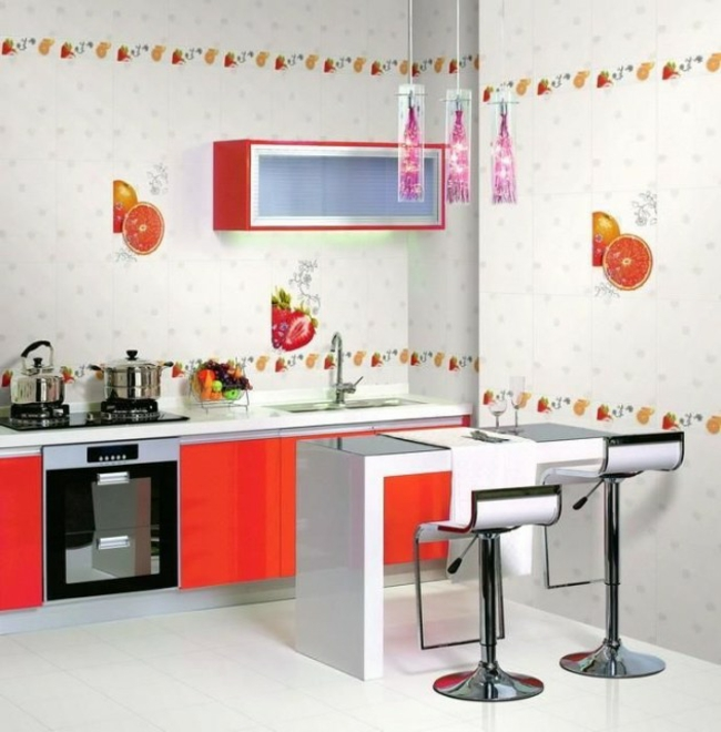 D coration murale cuisine contemporaine exemples d for Decoration murale cuisine moderne