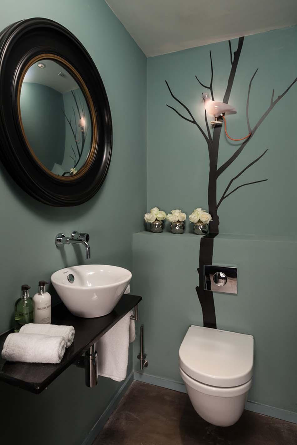 organisation décoration murale toilettes